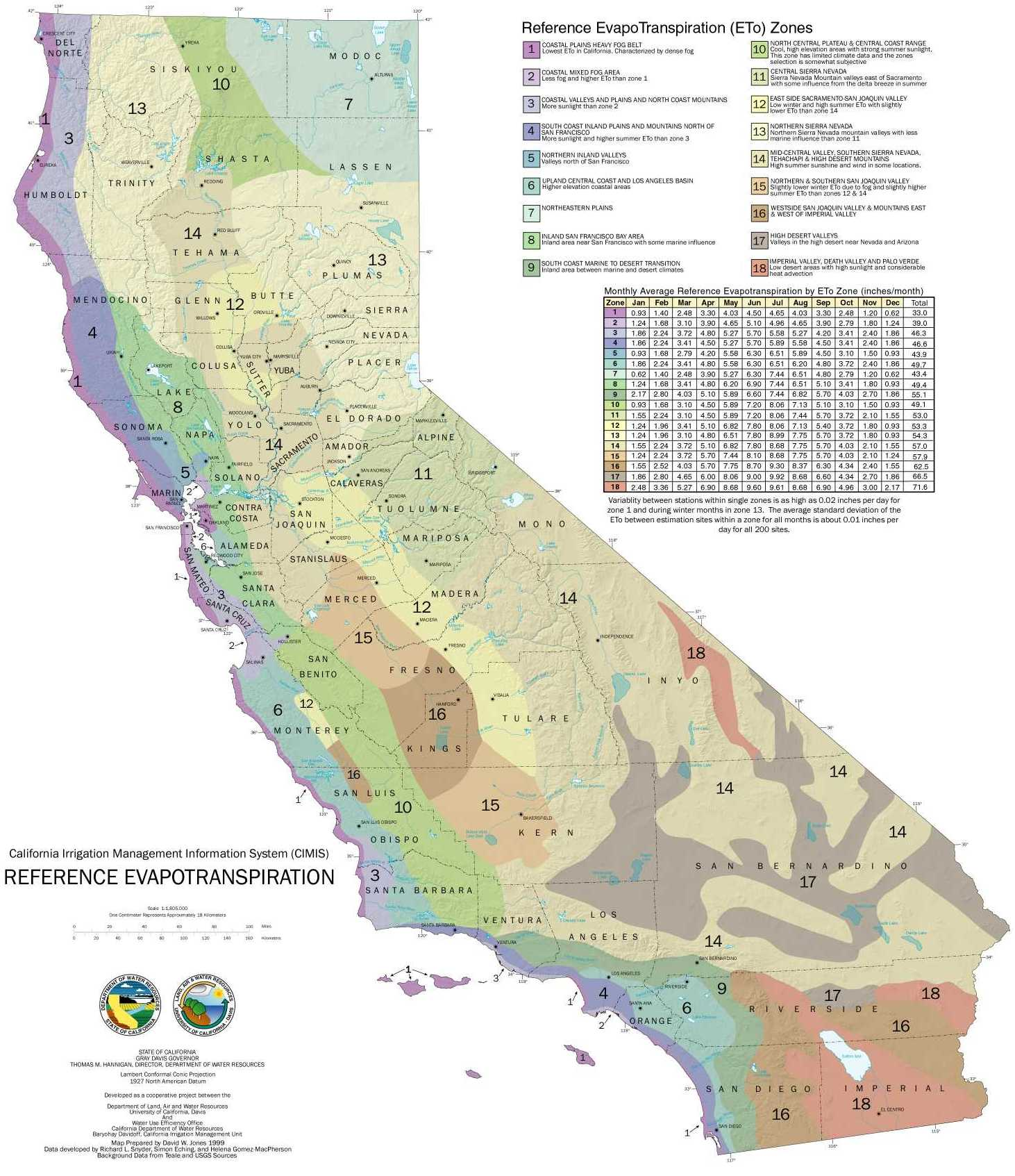 California ET Map